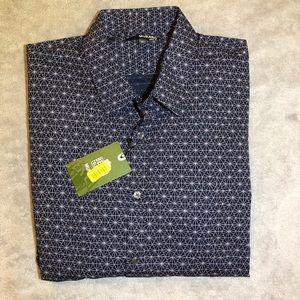 Murano XL Dark Navy Geometric Button Down Shirt